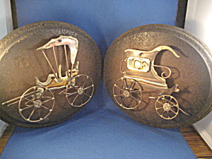 Wood And Metal Art Carriage Plaque