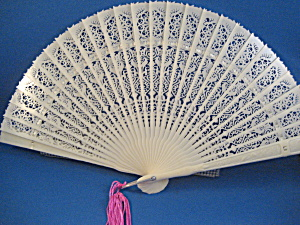 Ivory White Celliloid Fan (Image1)