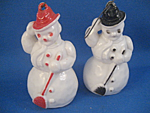 Two Plastic Snowmen Ornaments (Image1)