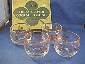 Federal Lucky Clover Cocktail Glasses (Image1)