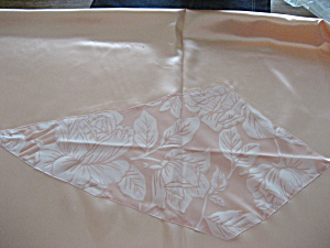 Peach Silk Table Cloth