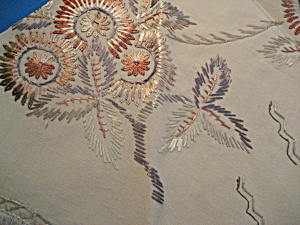 Embroidered Round Dresser Scarf