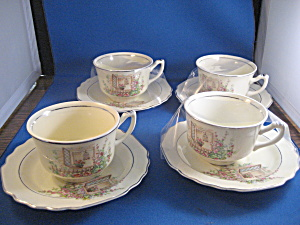 Lido W.S. George Canary Cups and Saucers (Image1)