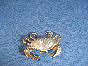 Pewter Crab Brooch (Image1)