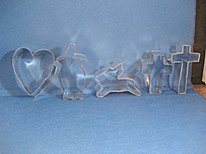 Five Aluminun Cookie Cutters (Image1)