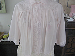 Pink And Lace Bed Jacket