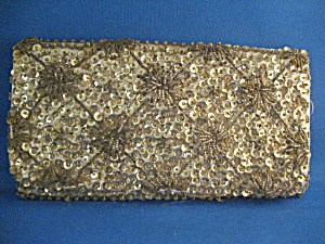 Gold Beaded Clutch Purse (Image1)