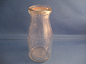 Pint Glass Milk Bottle With Cap