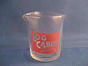 Log Cabin Syrup Pitcher