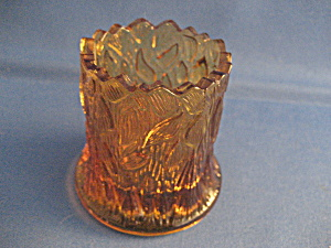 Tree Stump Amber Glass Toothpick Holder (Image1)