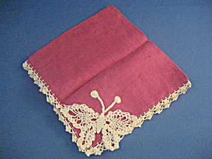 Butterfly Crochet Handkerchief