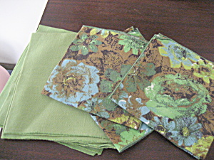Retro Green Napkins