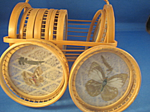Wicker and Butterflies Coasters (Image1)
