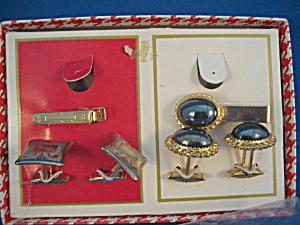 18 KT Gold Plated Cuff Links and Tie Bar (Image1)