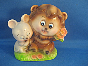 Lion And Mouse Figurine