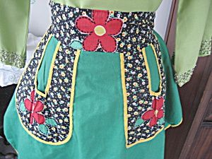 Green Flower Apron