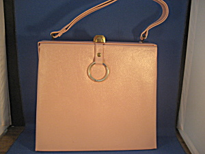 Pink Leather Hand Bag (Image1)