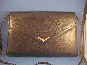 Black 80s Envelope Purse (Image1)
