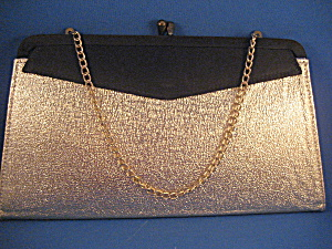 Gold And Black Satin Purse