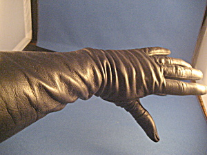 Black Leather Driving Gloves (Image1)