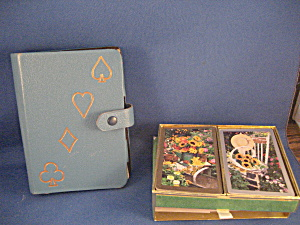 Playing Cards And Leather Case