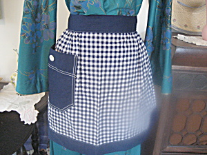 Blue Checkered Apron