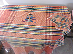 Hand Woven South American Table Cloth And Matching Napkins