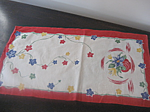 Painted Flower Dresser Scarf