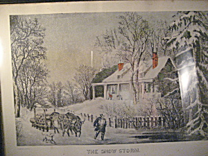 The Now Storm Currier & Ives Print