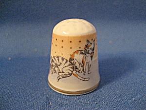 Vintage Bone China Cat Thimble (Image1)