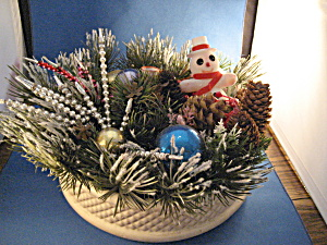 Christmas Haeger Planter Centerpiece