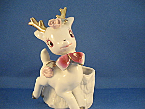 Lefton Reindeer Planter