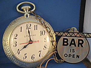 Pocket Watch Bar Clock
