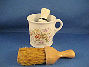 Shaving Mug And Brushes