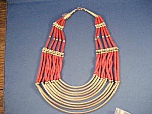 Camel Bone and Silver Necklace (Image1)