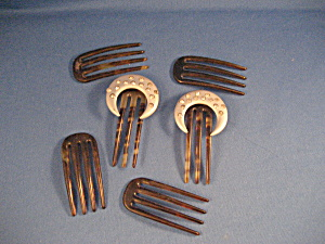 Six Vintage Hair Combs (Image1)