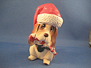 Lefton Christmas Dog Figurine
