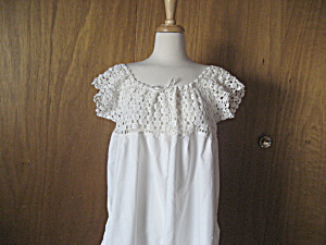 Victorian Crocheted Night Gown