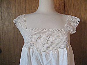 Victorian Night Gown With Crochet Hem