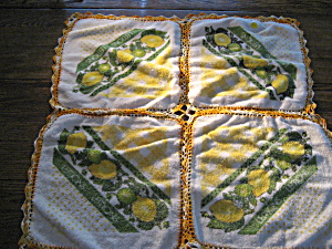 Lemons Wash Cloth Table Cloth