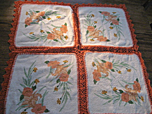 Vintage Wash Cloth Table Cloth