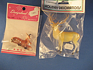 Dear And Reindeer Figurines