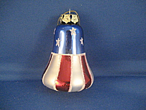 Stars And Stripe Bell Ornament