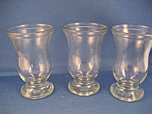 Three Very Old Bar Shot Glasses