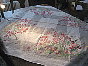 Large Iris Table Cloth