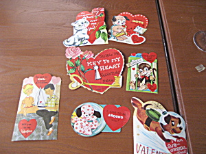 7 Small 1963 Valentines