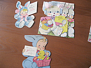 Three 1951 Easter Cards