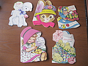 Five Vintage Easter Cards from 1952-1953 (Image1)