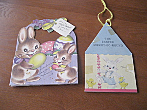 Easter Merry-go-round And Easter Basket Card