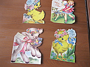 Four 1952-1953 Easter Cards (Image1)